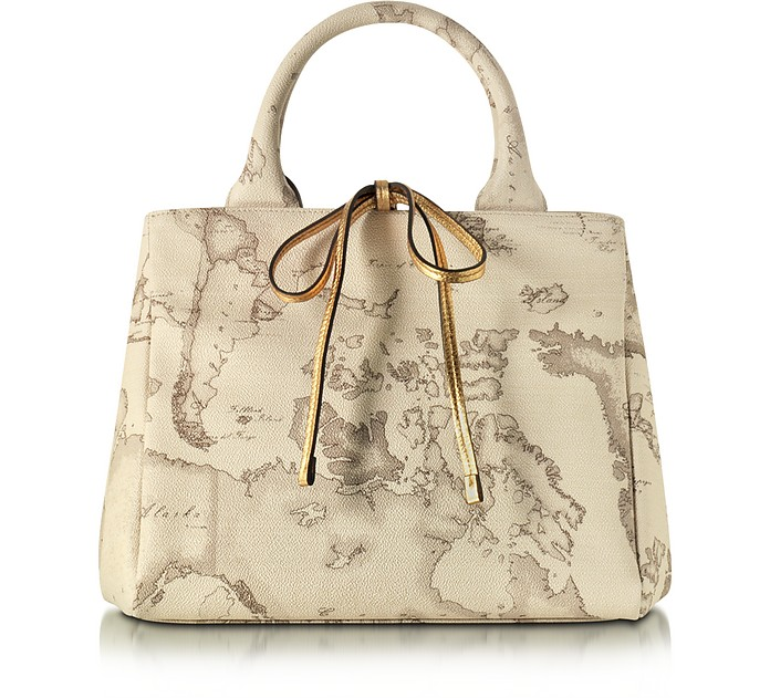 Geo Safari Coated Canvas Tote - Alviero Martini 1A Classe