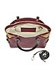 Small Cover Geo Classic Wine Leather Shoulder Bag - Alviero Martini 1A Classe