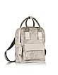 Free Spirit Softy Ash Gray Fabric and Leather BackPack - Alviero Martini 1A Classe