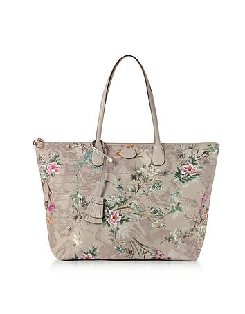Large Oriental Garden Tote Bag