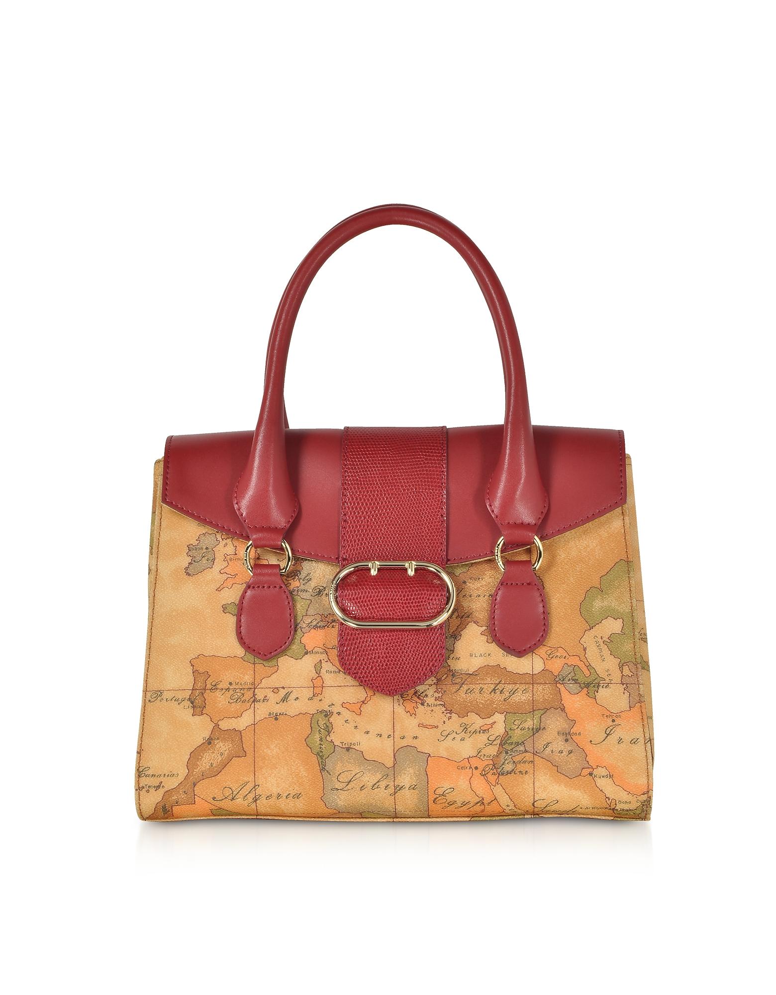 Alviero Martini 1A Classe Handbags, Wonder Geo Small Satchel Bag