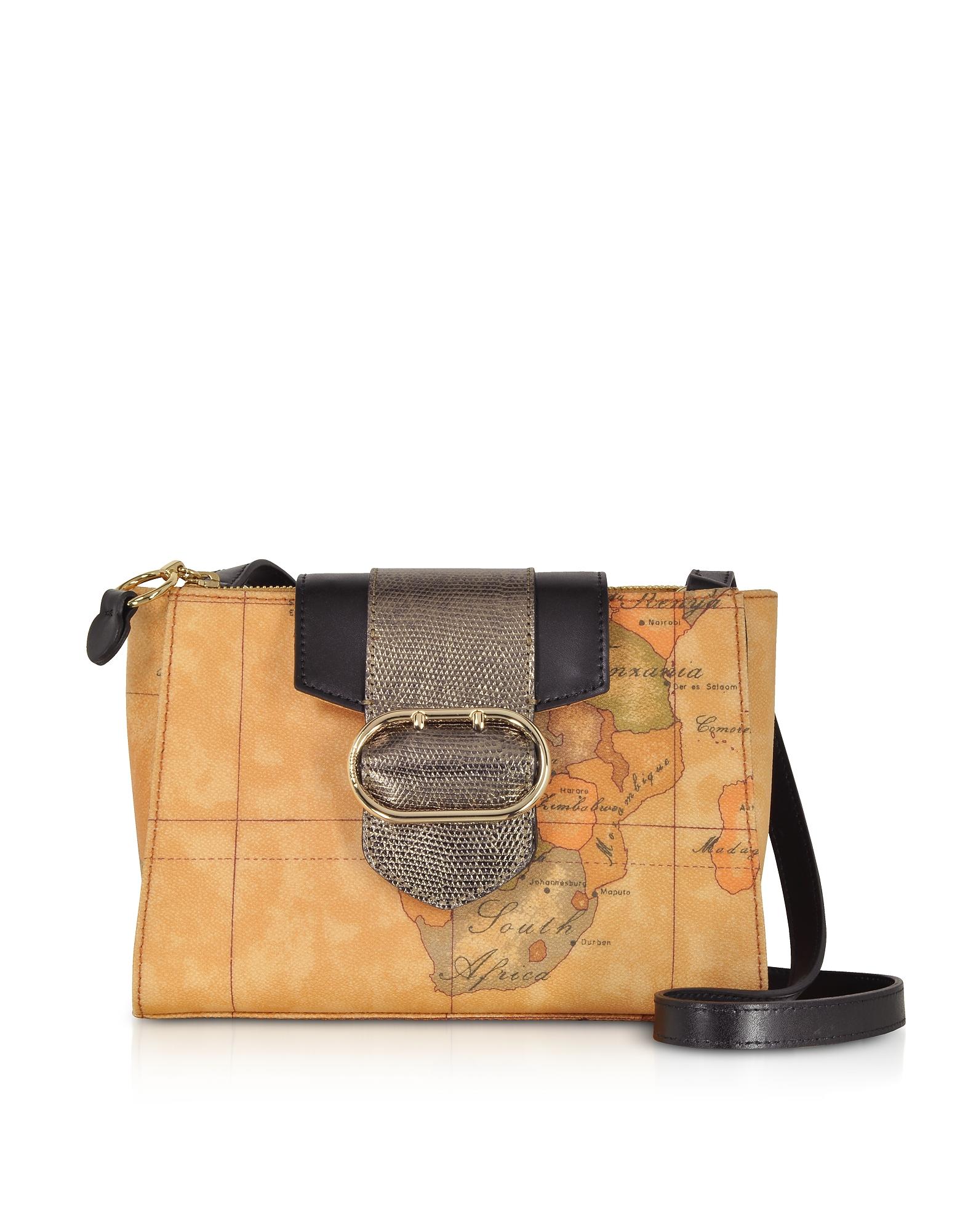 Alviero Martini 1A Classe Handbags, Wonder Geo Two Tone Shoulder Bag