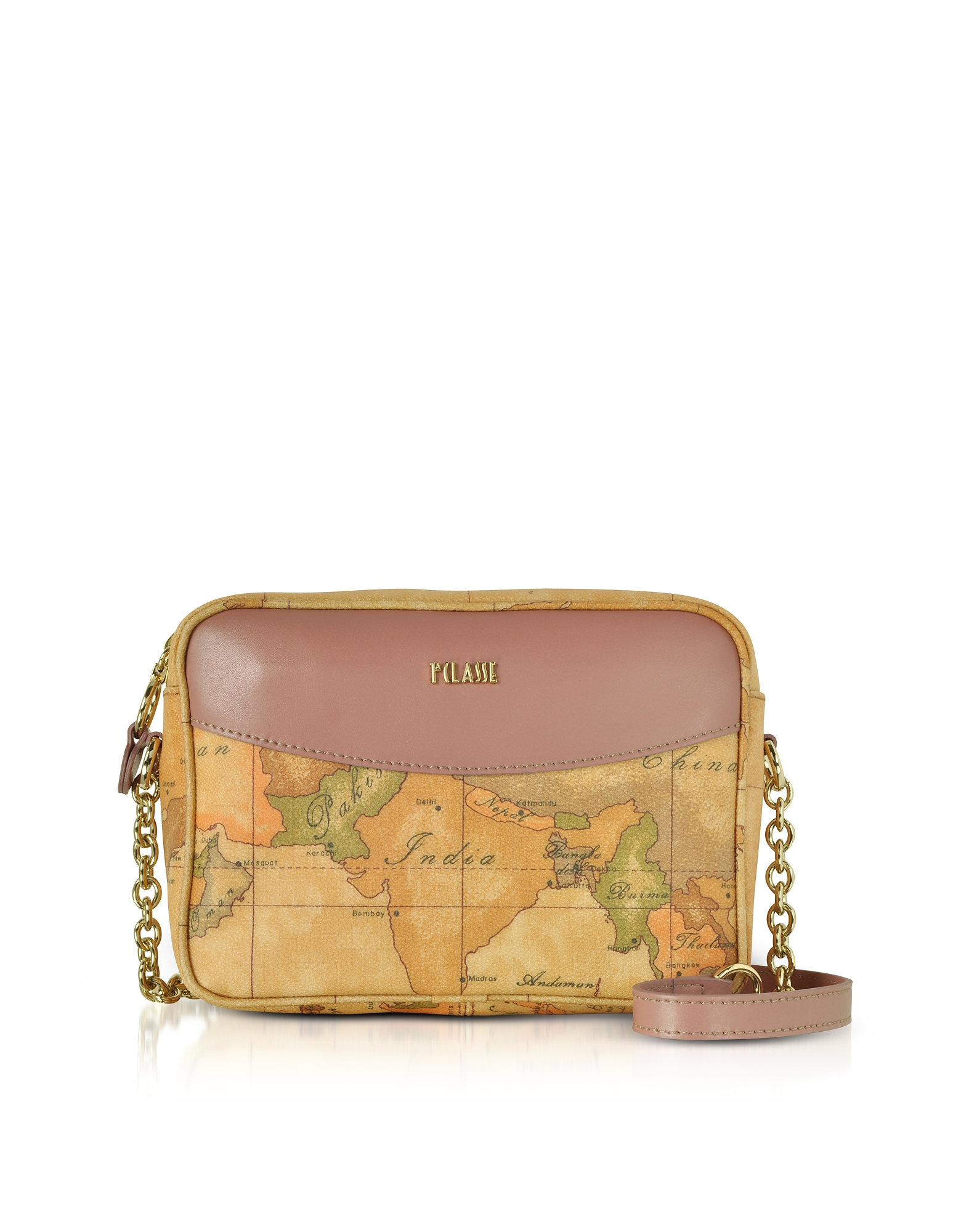 Alviero Martini 1A Classe Handbags, The Goldie Geo Printed Coated Canvas Messenger Bag