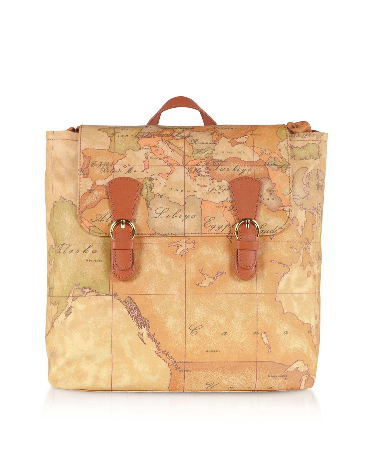 Alviero Martini 1A Classe Designer Handbags, Soft Geo Classic Canvas Backpack