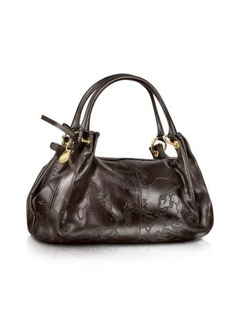 Foto der Handtasche Alviero Martini 1a Prima Classe Fjords - Schultertasche aus dunkelbraunem Leder