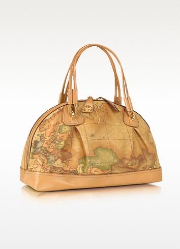 Geo Africa - Large Geo-Print Printed Leather Satchel Bag - Alviero Martini 1A Classe