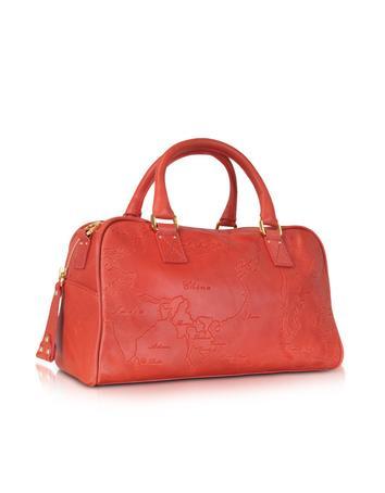 Alviero Martini 1A Classe Geo Terracotta - Leather Satchel Bag