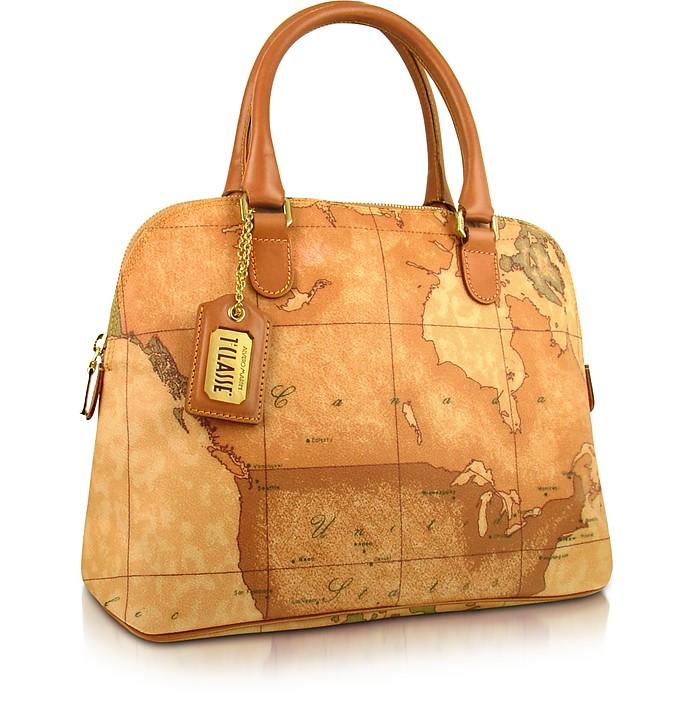 1a Prima Classe - Geo Printed Top Zip Handbag - Alviero Martini 1A Classe