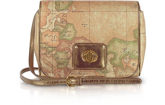 Geo Metallic Messenger Bag Bronze - Alviero Martini 1A Classe