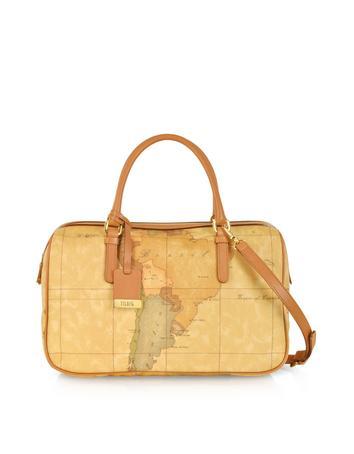 Lux-ID 208963 1a Prima Classe - Geo Printed Medium 'New Basic' Satchel Bag