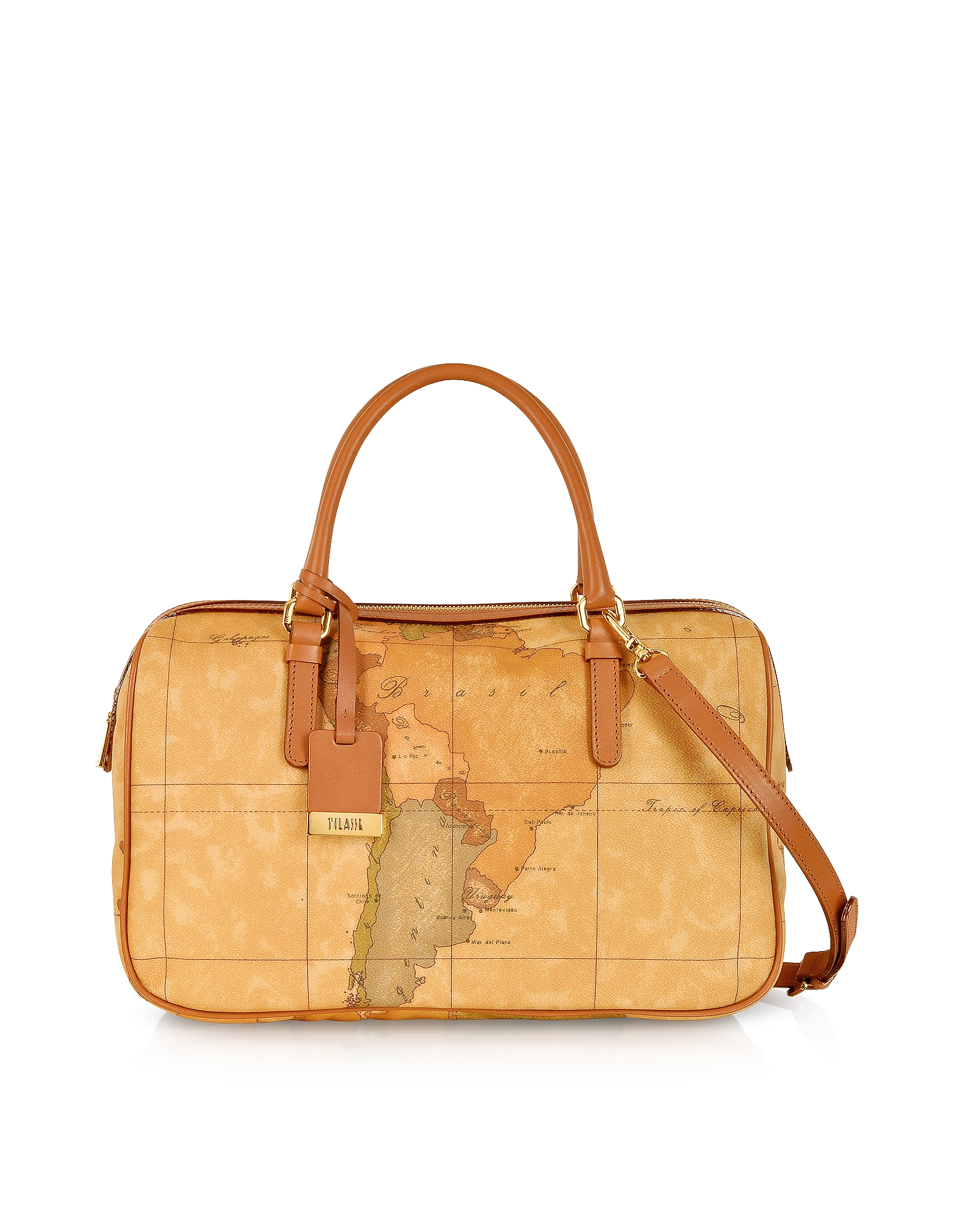 Alviero Martini 1A Classe Handbags, 1a Prima Classe - Geo Printed Medium 'New Basic' Satchel Bag