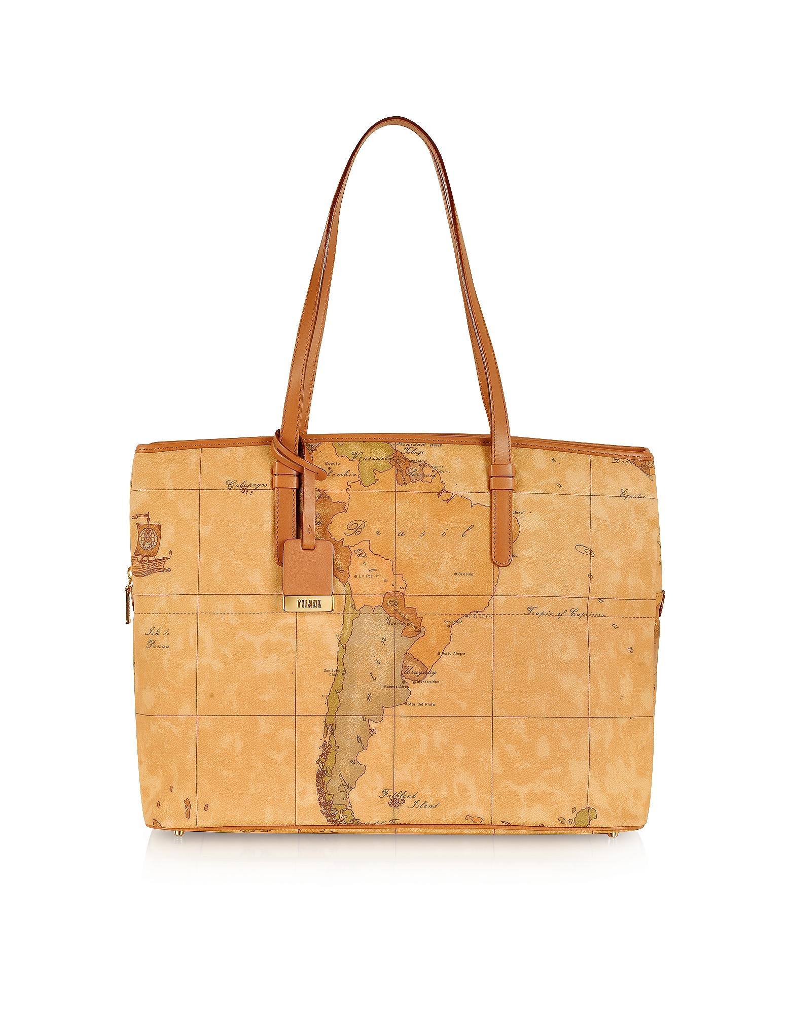 Alviero Martini 1A Classe Designer Handbags, 1a Prima Classe - Geo Printed Large Business