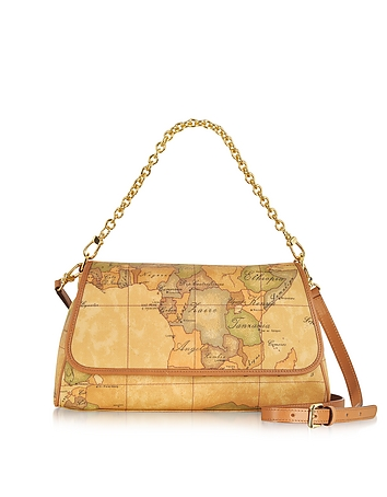 1a Prima Classe - Geo Printed Small Contemporary Shoulder Bag