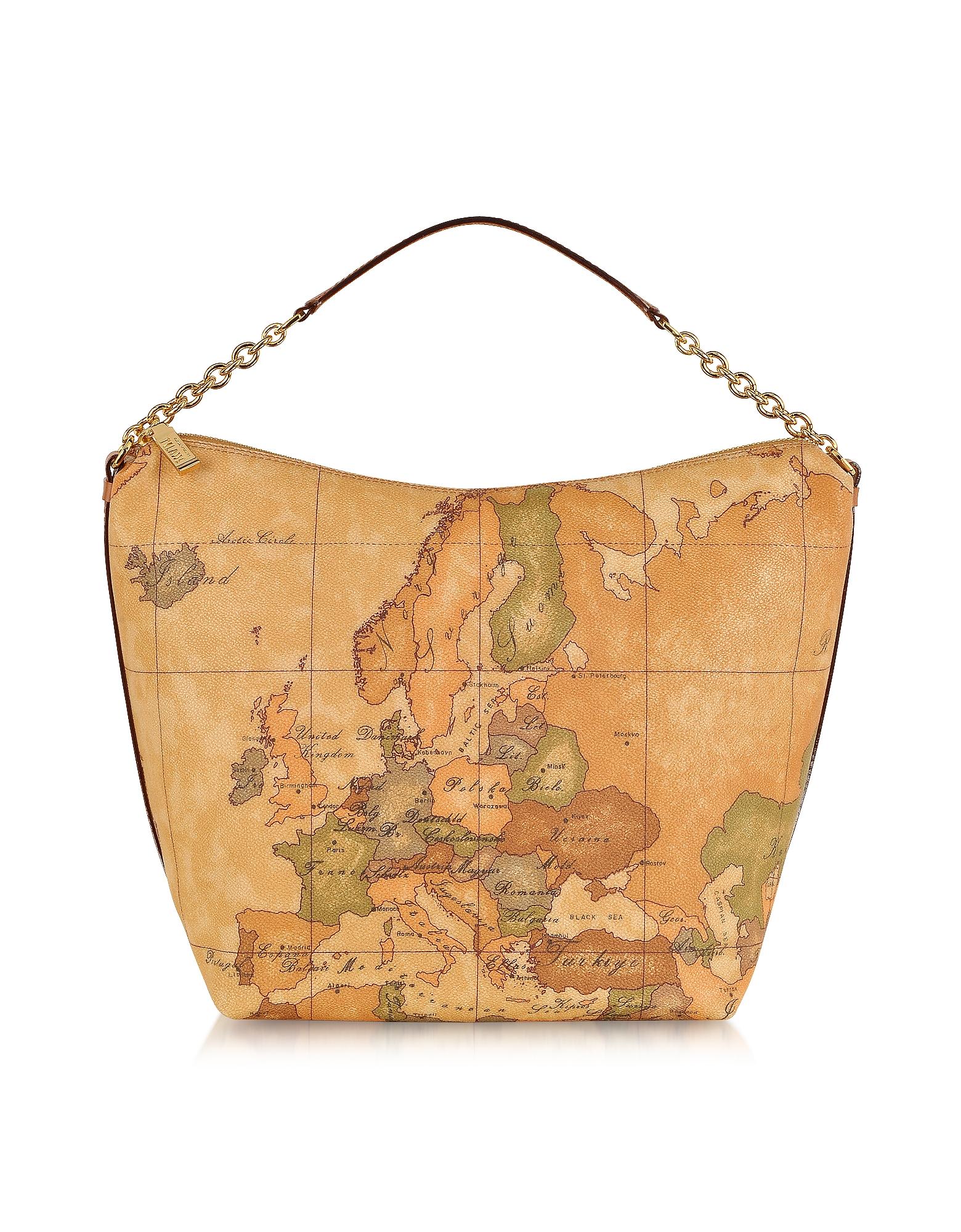 "Image of 1a Prima Classe - Geo Printed Medium ""Contemporary"" Shoulder Bag"