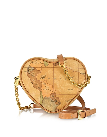 1a Prima Classe - Geo Printed Contemporary Heart Shoulder Bag