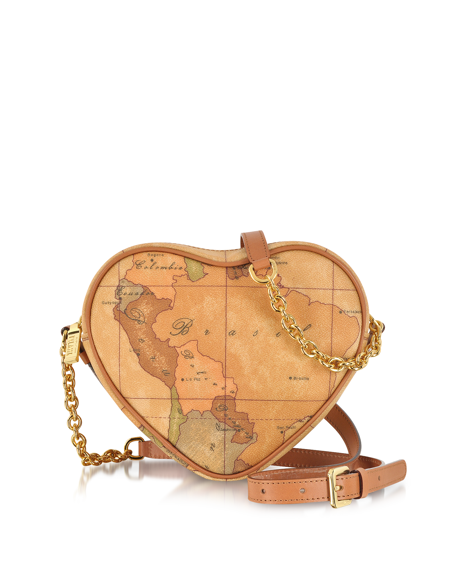 Image of 1a Prima Classe - Geo Printed Contemporary Heart Shoulder Bag