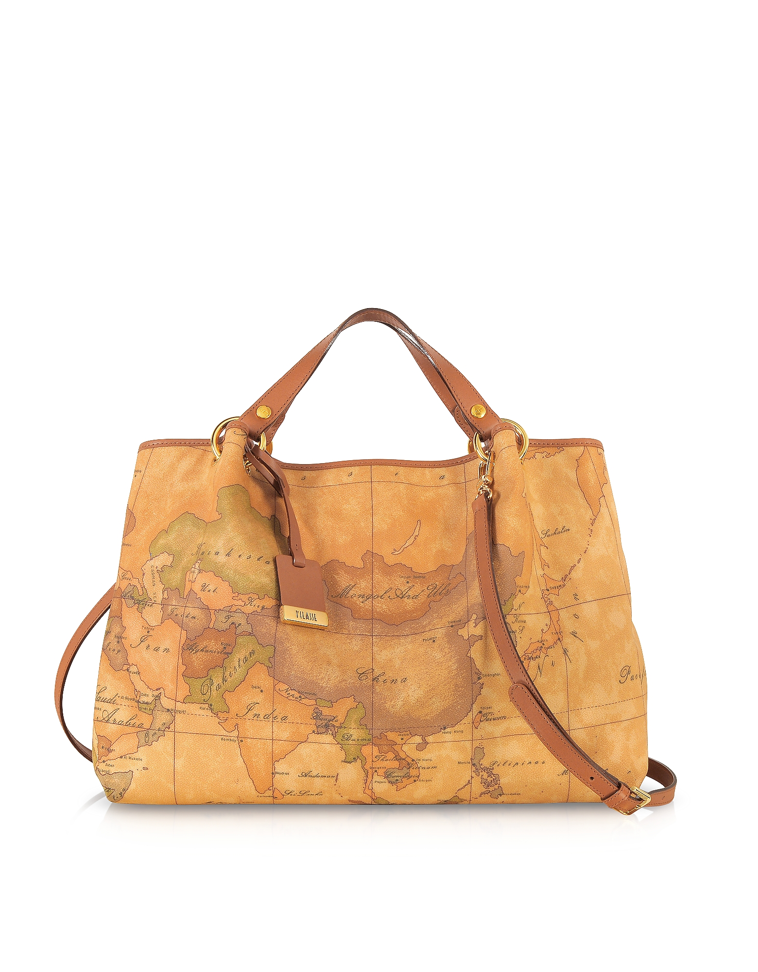 Alviero Martini 1A Classe Handbags, Geo Printed Large 'Contemporary' Handbag