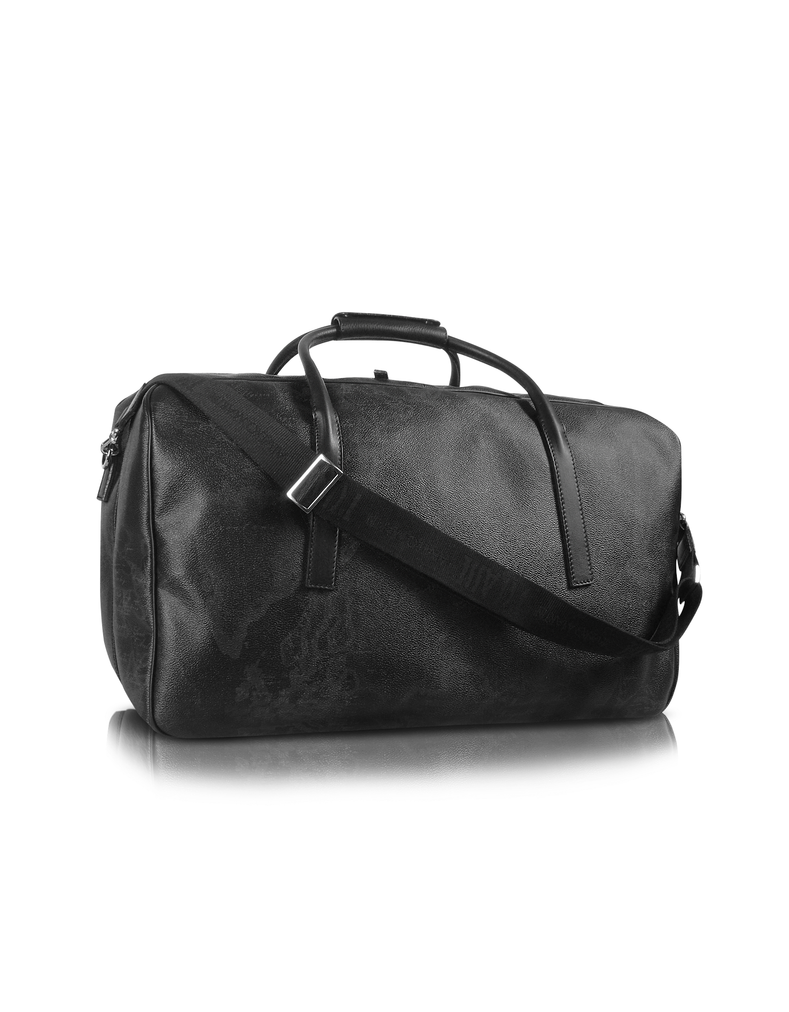 Image of 1a Prima Classe - Geo Black Double Compartment Zip Travel Bag