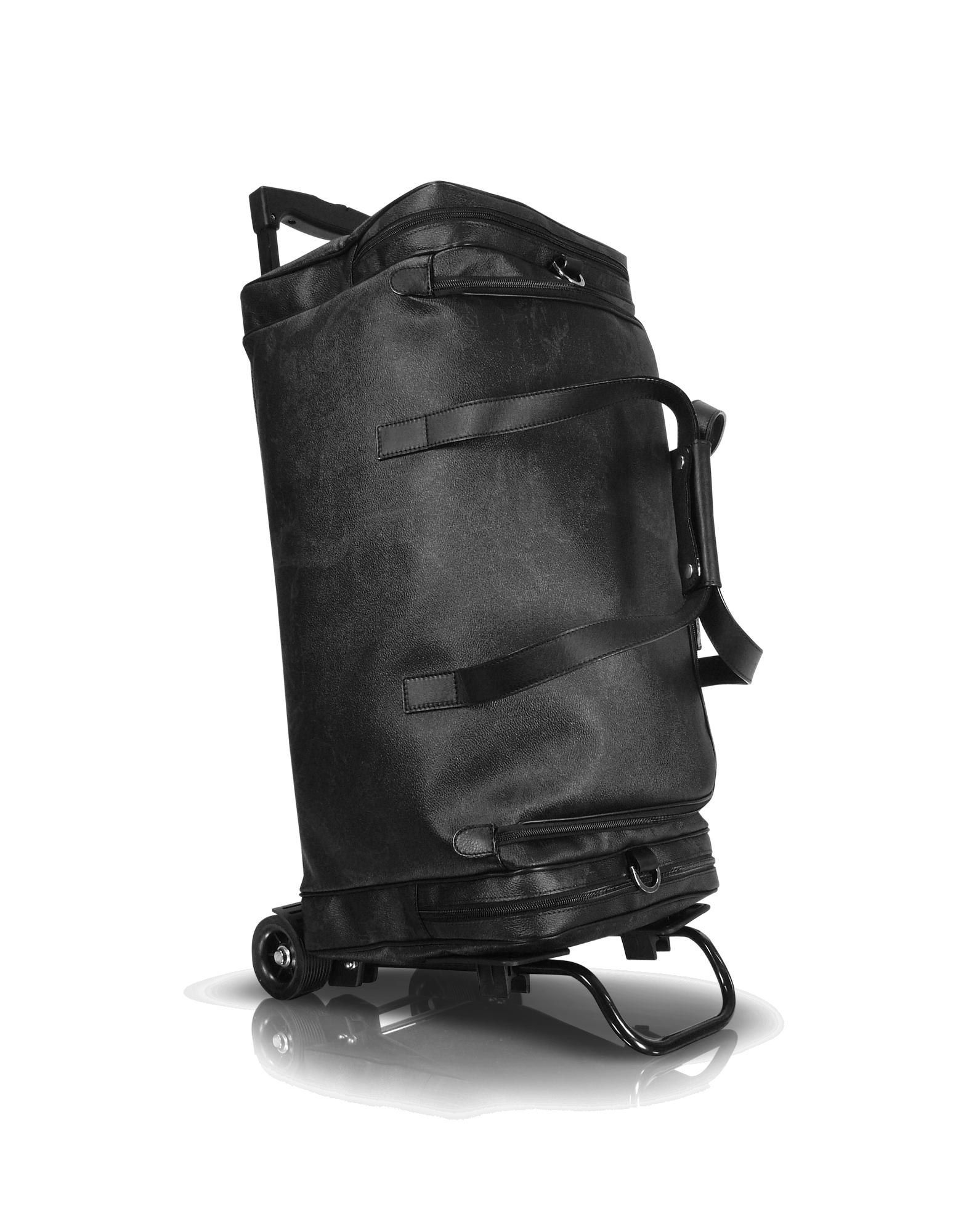 Image of 1a Prima Classe - Geoblack Duffel Travel Bag w/Wheels