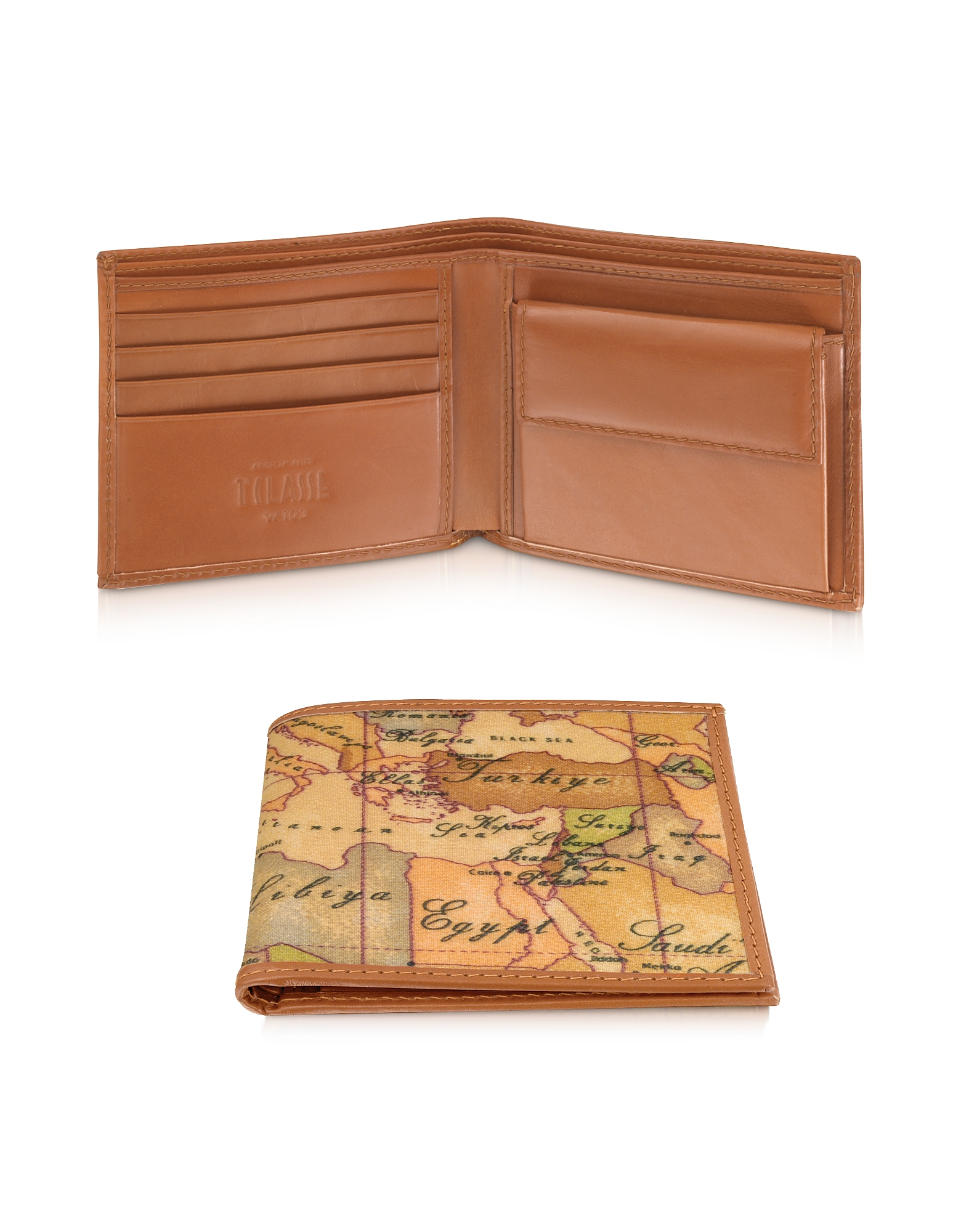 Image of Alviero Martini 1A Classe Designer Wallets, Geo Print Men's Wallet