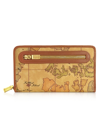 Geo Print Zip Around Wallet