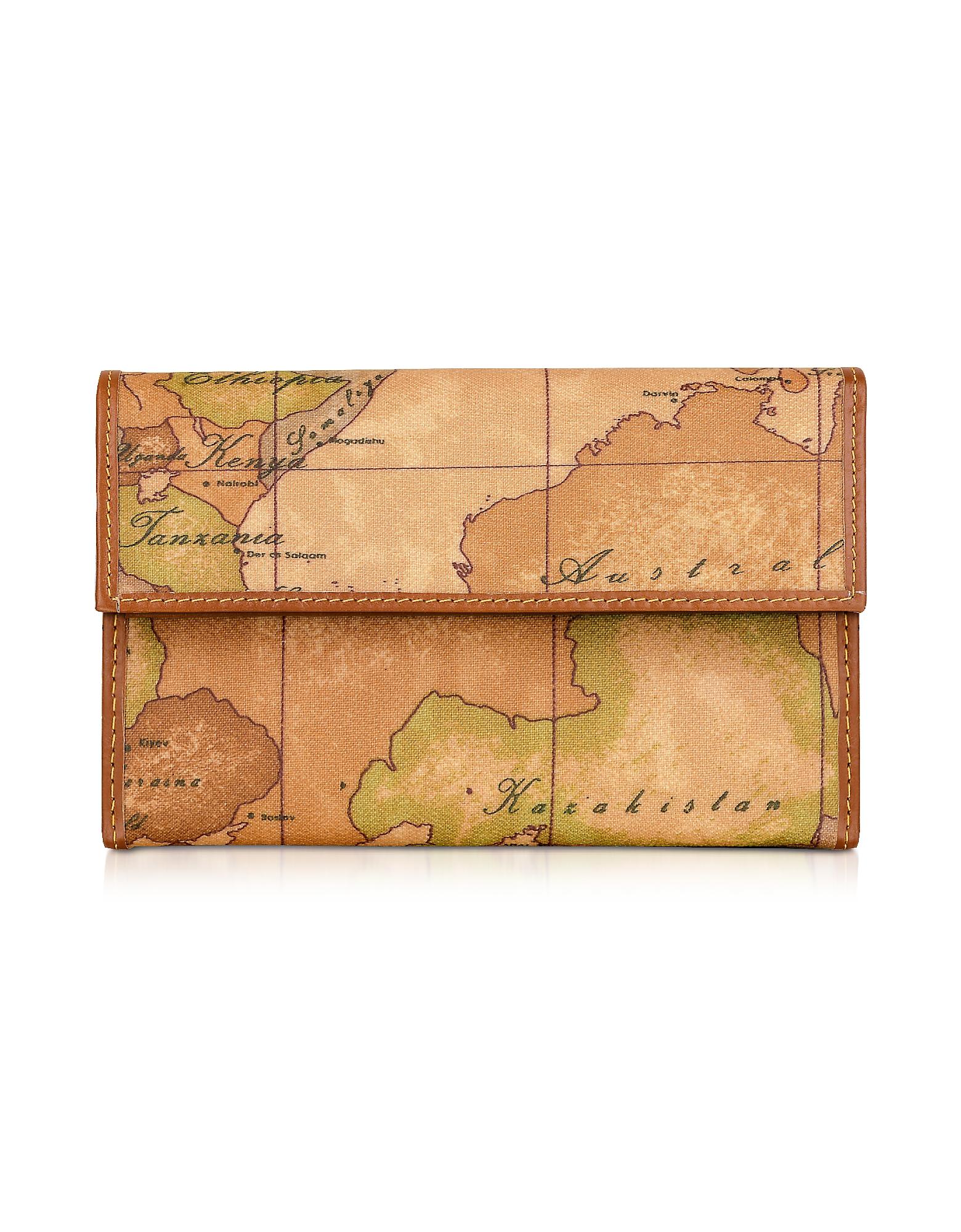 Geo Print Flap Wallet
