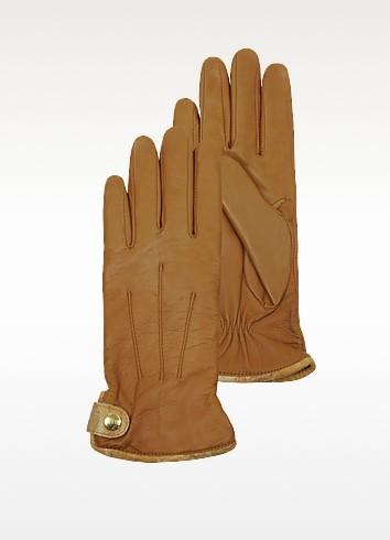 Women's Brown Leather Gloves - Alviero Martini 1A Classe