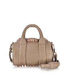Mini Rockie Latte Pebbled Leather Satchel - Alexander Wang