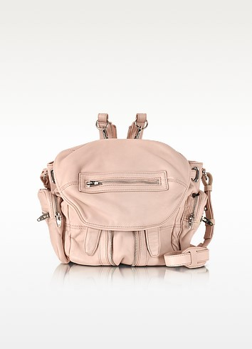 Mini Marti Pale Pink Washed Leather Backpack - Alexander Wang