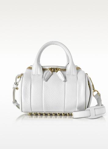 Mini Rockie Peroxide Soft Pebbled Leather Satchel Bag - Alexander Wang