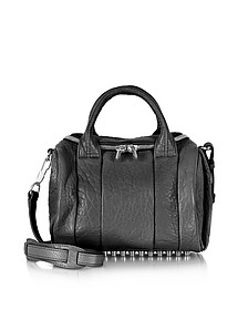 Rockie Black Pebble Lambskin Satchel bag w/Rhodium Studs - Alexander Wang