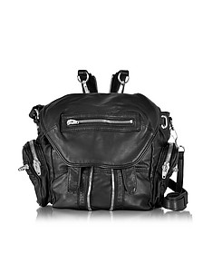 Black Washed Lambskin Marti Backpack - Alexander Wang