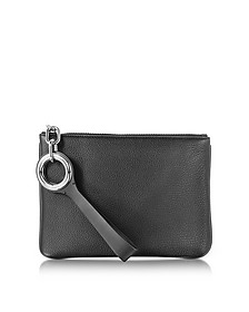 Riot Black Refined Pebble Leather Pouch - Alexander Wang