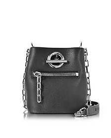 Riot Black Refined Pebble Leather Crossbody Bag - Alexander Wang