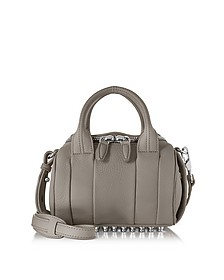 Mini Rockie Matte Mink Gray Pebbled Leather Satchel - Alexander Wang