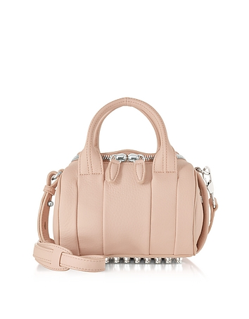 Alexander Wang Mini Rockie Pale Pink Pebbled Leather Satchel