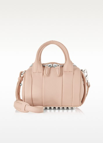 Mini Rockie Pale Pink Pebbled Leather Satchel - Alexander Wang