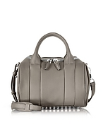 Alexander Wang Rockie Bauletto con Tracolla in Pelle Mink Gray - alexander wang - it.forzieri.com