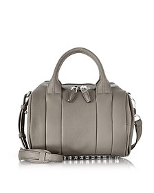 Rockie Mink Gray Pebbled Leather Satchel w/Studs - Alexander Wang