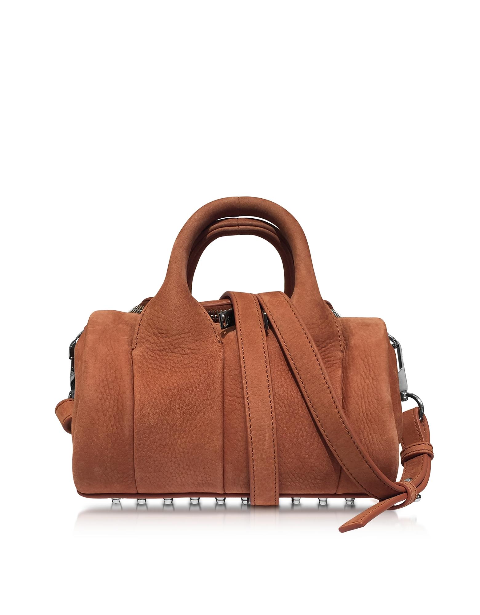 Alexander Wang Handbags, Mini Rockie Terracotta Pebbled Nubuck Satchel Bag