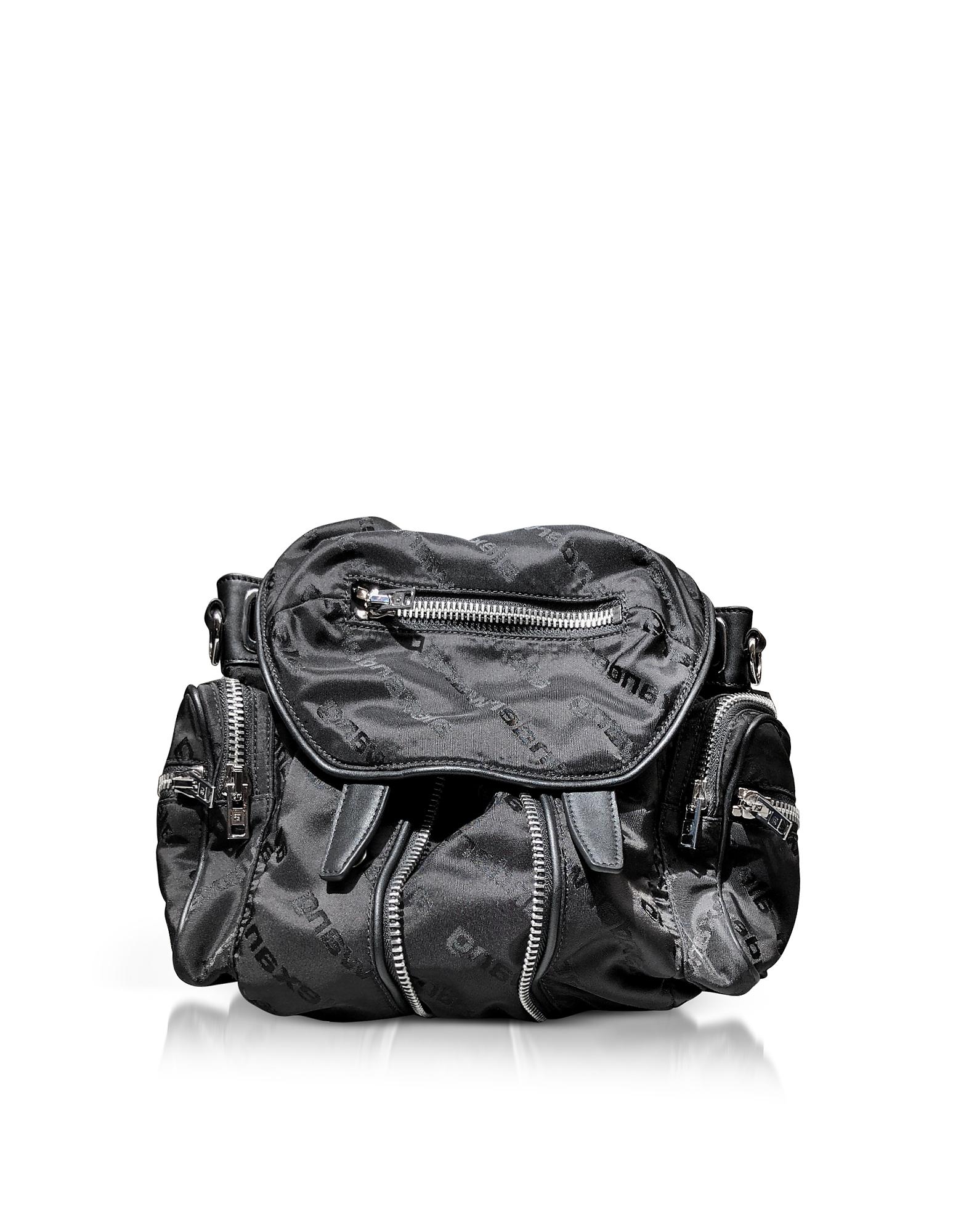 Mini Marti Black AW Jacquard Logo Backpack