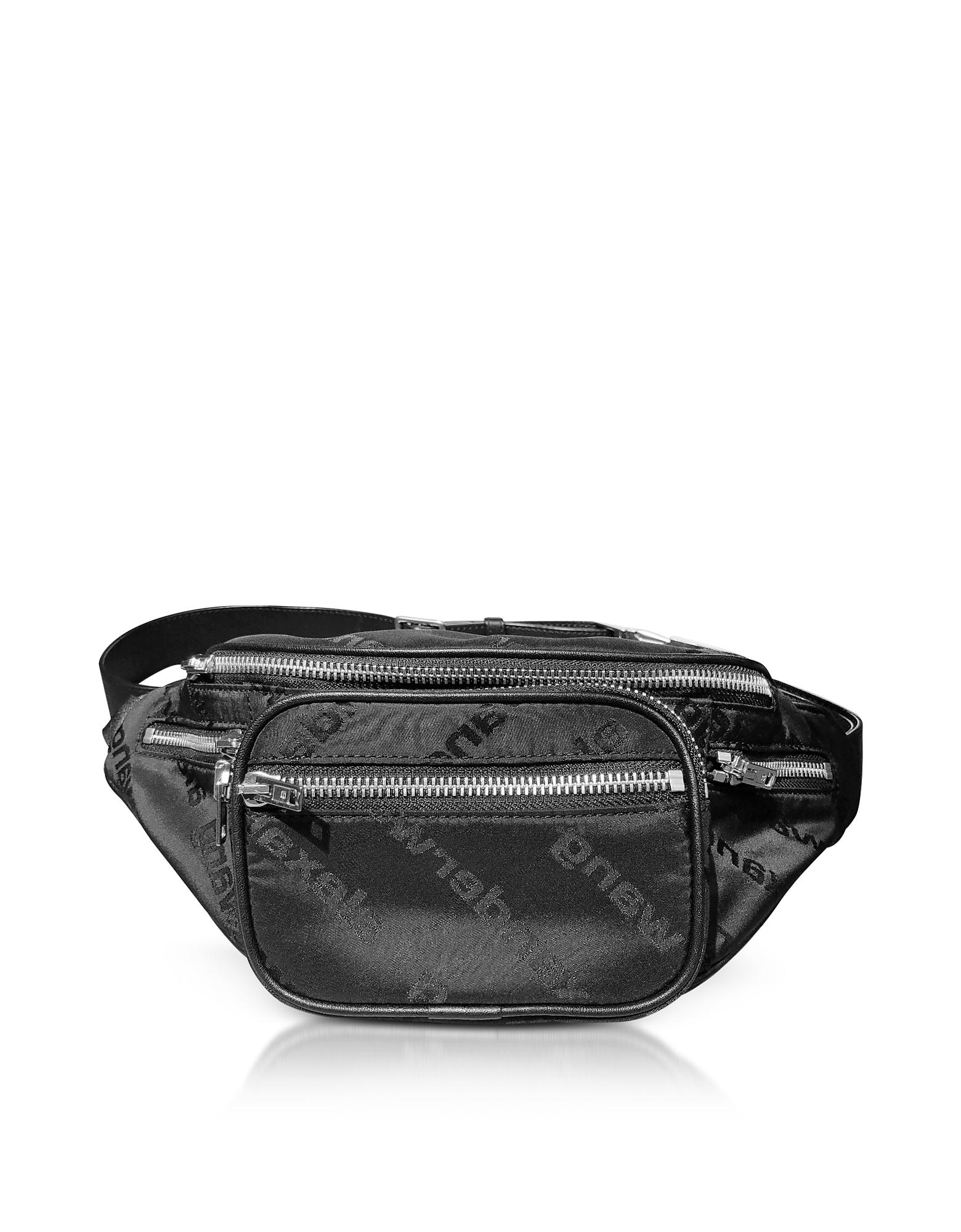 Attica Black Aw Jacquard Logo Soft Fanny Pack/Belt Bag
