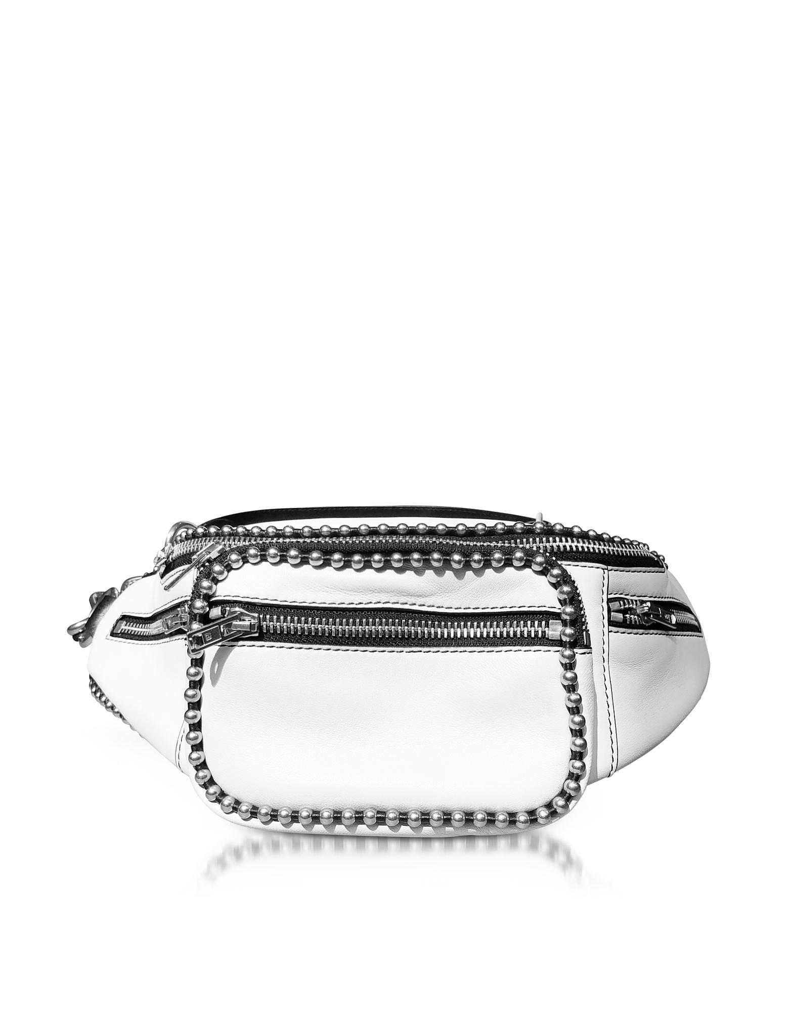 Attica White Leather Fanny Pack/Belt Bag