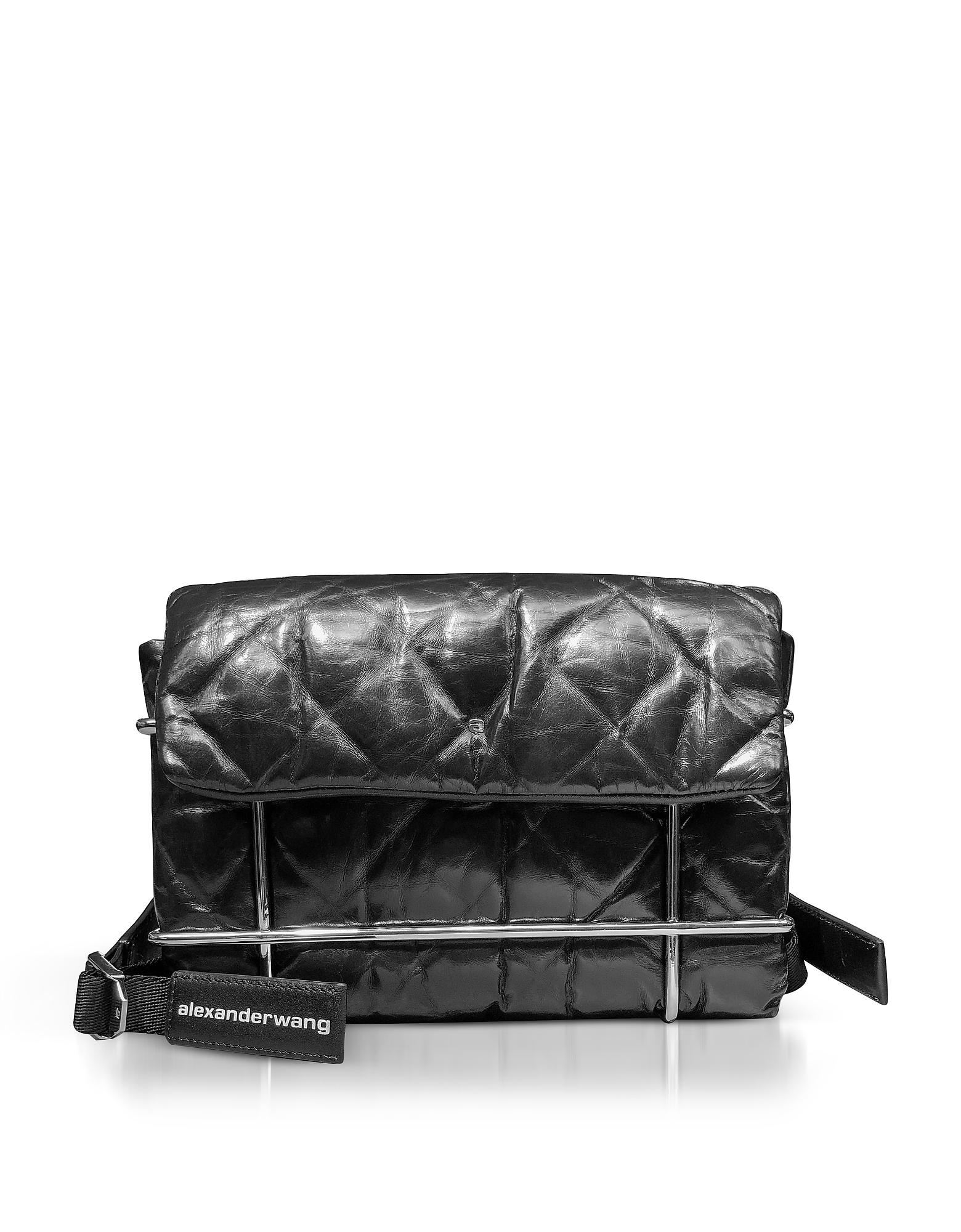 Alexander Wang Handbags, Halo Black Quilted Leather Shoulder Bag