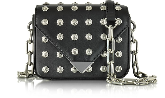 Mini Prisma Envelope Sling Black Crossbody Bag w/Studs - Alexander Wang