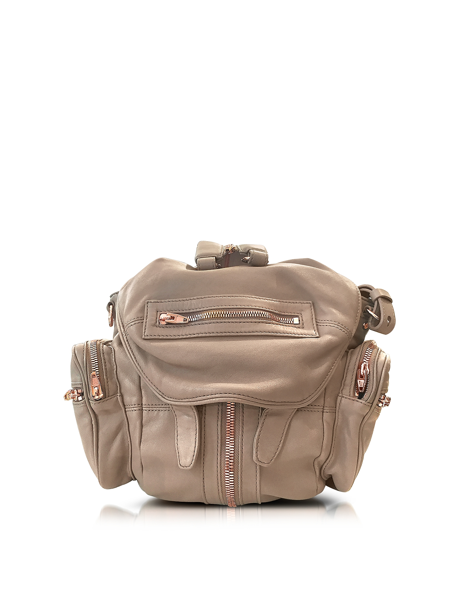 Alexander Wang Mini Marti Latte Washed Leather Backpack