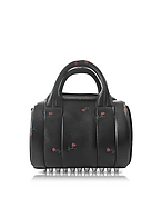 Alexander Wang Mini Rockie Bauletto in Pelle Nera Stampa Rose - alexander wang - it.forzieri.com