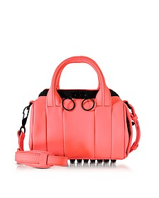 Fluo Coral Mini Rockie Leather Satchel - Alexander Wang