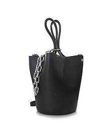 Black Leather Roxy Large Bucket Bag - Alexander Wang