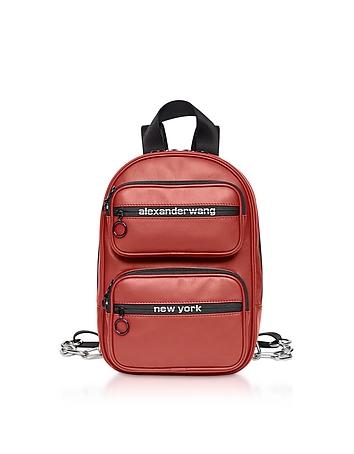 Red Matte Soft Nappa Leather Attica Medium